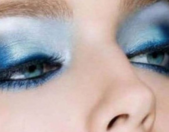 maquillaje en tonos metalicos